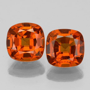 Cinnamon Orange Hessonite Garnet Gem - 1.2ct Cushion-Cut (ID: 338864)