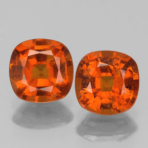 Medium Orange Hessonite Garnet Gem - 1.2ct Cushion-Cut (ID: 338865)