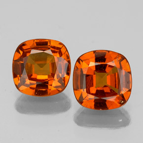 Cinnamon Orange Hessonite Garnet Gem - 0.9ct Cushion-Cut (ID: 338866)