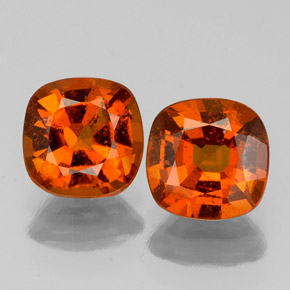 1.1ct Cushion-Cut Amber Orange Hessonite Garnet Gem (ID: 338869)
