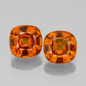 Cinnamon Orange Hessonite Garnet Gem - 1.1ct Cushion-Cut (ID: 338882)