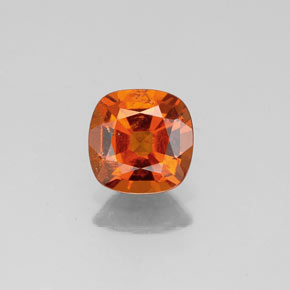 1ct Cushion-Cut Deep Orange Hessonite Garnet Gem (ID: 339009)