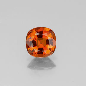 0.9ct Cushion-Cut Amber Orange Hessonite Garnet Gem (ID: 339010)