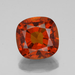 2.3ct Cushion-Cut Cinnamon Orange Hessonite Garnet Gem (ID: 342749)