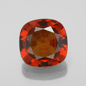 Medium Red Hessonite Garnet Gem - 2.2ct Cushion-Cut (ID: 343413)