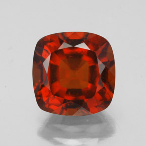 Cinnamon Orange Hessonite Garnet Gem - 2.7ct Cushion-Cut (ID: 343415)