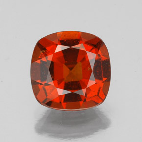 2.3ct Cushion-Cut Cinnamon Orange Hessonite Garnet Gem (ID: 343436)