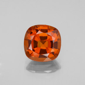 2.2ct Cushion-Cut Cinnamon Orange Hessonite Garnet Gem (ID: 343504)