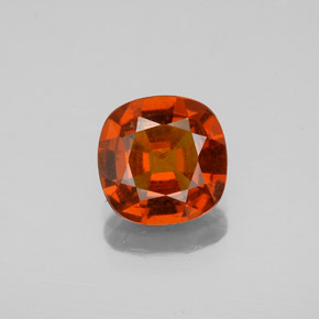 Cinnamon Orange Hessonite Garnet Gem - 1.7ct Cushion-Cut (ID: 344216)
