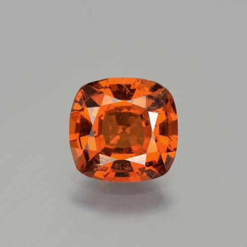 Candy Red Hessonite Garnet Gem - 1.7ct Cushion-Cut (ID: 344219)