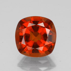 2.18 ct Cushion-Cut Cinnamon Orange Hessonite Garnet Gemstone 7.94 mm x 7.9 mm (Product ID: 344223)