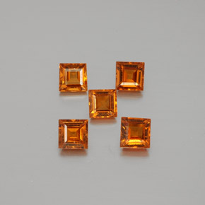 0.3ct Square Facet Orange Hessonite Garnet Gem (ID: 381265)