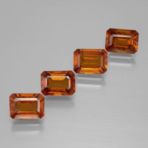 Cinnamon Orange Hessonite Garnet Gem - 1.3ct Octagon Facet (ID: 391933)