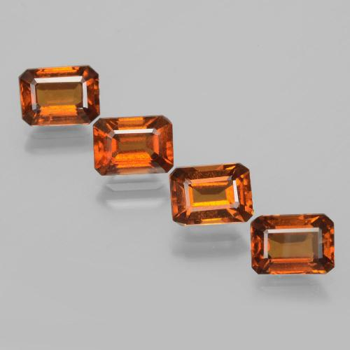 Cinnamon Orange Hessonite Garnet Gem - 1.2ct Octagon Facet (ID: 392144)