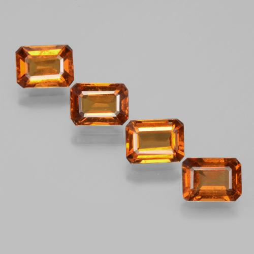 Cinnamon Orange Hessonite Garnet Gem - 1ct Octagon Facet (ID: 392146)