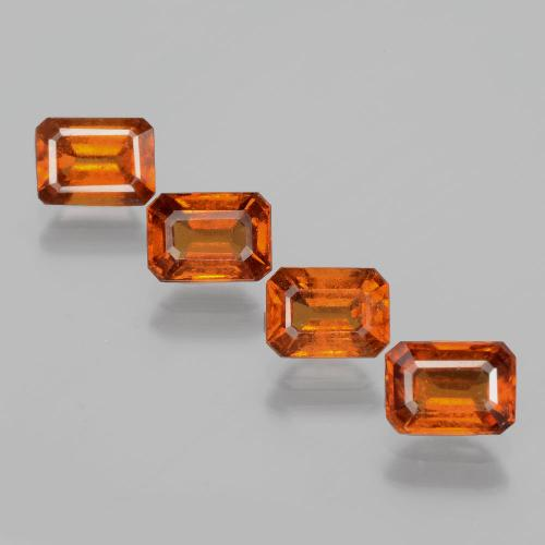Cinnamon Orange Hessonite Garnet Gem - 1.2ct Octagon Facet (ID: 392149)