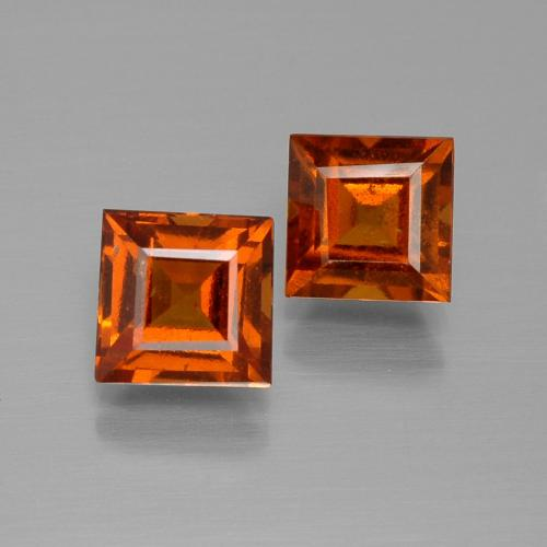 Medium Orange Granate Hesonita Gema - 1.3ct Forma cuadrada (ID: 392828)