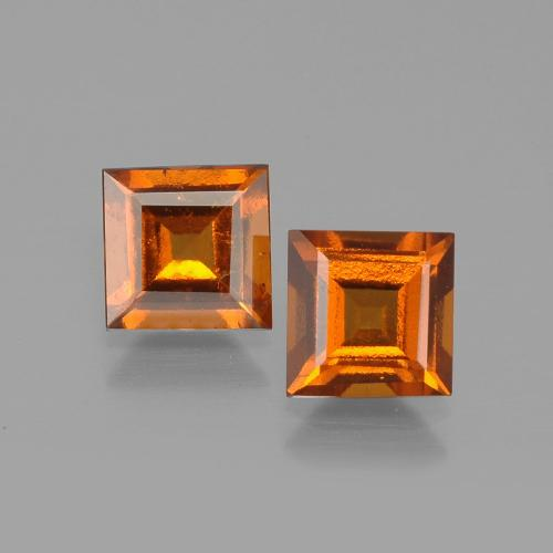 1.1ct Square Facet Cinnamon Orange Hessonite Garnet Gem (ID: 392831)