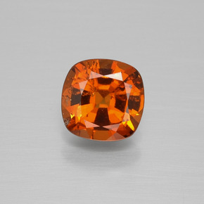 1.1ct Cushion-Cut Fire Orange Hessonite Garnet Gem (ID: 393032)