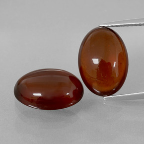 Cinnamon Orange Hessonite Garnet Gem - 7.2ct Oval Cabochon (ID: 393196)