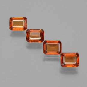 Medium-Dark Orange Granato essonite Gem - 1.1ct Sfaccettatura ottagonale (ID: 393671)