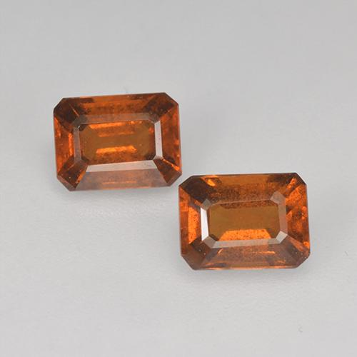 Cinnamon Orange Hessonite Garnet Gem - 1.1ct Octagon Facet (ID: 393730)
