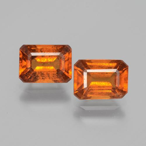 1.2ct Octagon Facet Cinnamon Orange Hessonite Garnet Gem (ID: 393732)