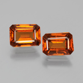Cinnamon Orange Hessonite Garnet Gem - 1.2ct Octagon Facet (ID: 393737)