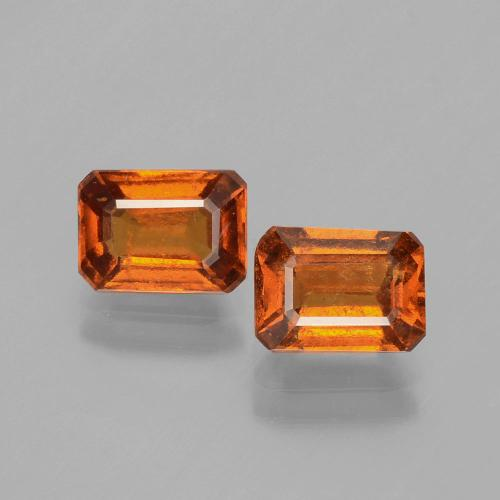 Cinnamon Orange Hessonite Garnet Gem - 1.3ct Octagon Facet (ID: 393851)