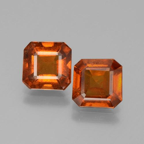 Dark Orange Granate Hesonita Gema - 1.5ct Forma octagonal (ID: 393853)