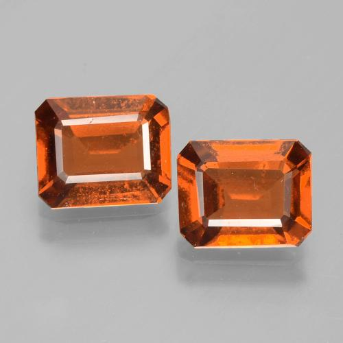 Cinnamon Orange Hessonite Garnet Gem - 1.6ct Octagon Facet (ID: 393984)