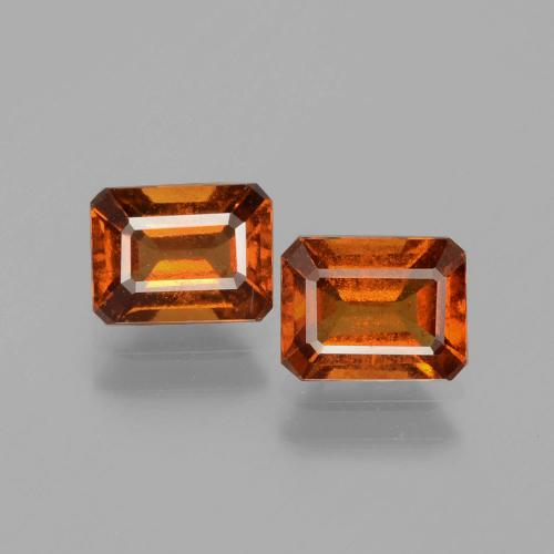 Medium Orange Hessonite Garnet Gem - 1.1ct Octagon Facet (ID: 393987)