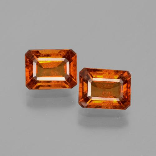 Cinnamon Orange Hessonite Garnet Gem - 1.1ct Octagon Facet (ID: 393988)