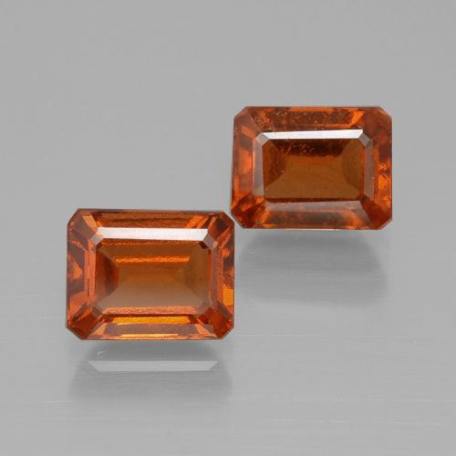 Cinnamon Orange Hessonite Garnet Gem - 1.5ct Octagon Facet (ID: 394100)