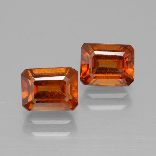 Medium Orange Hessonite Garnet Gem - 1.5ct Octagon Facet (ID: 394101)
