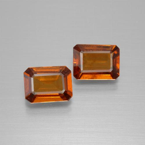 Amber Orange Hessonit-Granat Edelstein - 1.6ct Oktagon facettiert (ID: 394173)