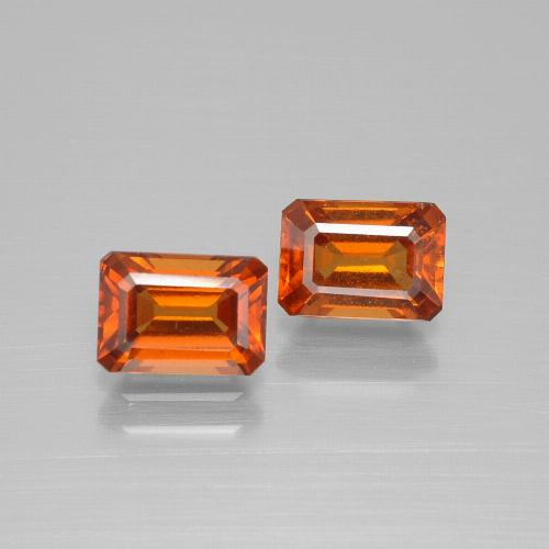 Cinnamon Orange Hessonite Garnet Gem - 1.2ct Octagon Facet (ID: 394174)