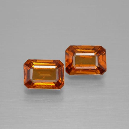 Cinnamon Orange Hessonite Garnet Gem - 1.1ct Octagon Facet (ID: 394175)