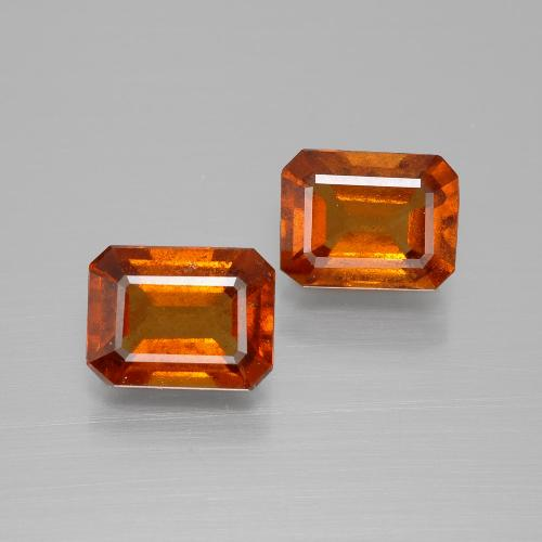 Cinnamon Orange Hessonite Garnet Gem - 1.7ct Octagon Facet (ID: 394180)