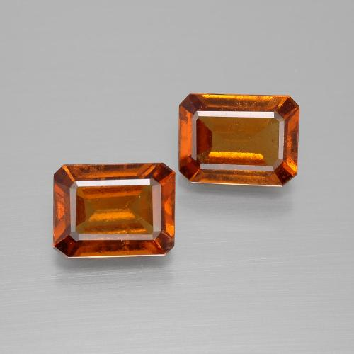 Cinnamon Orange Hessonite Garnet Gem - 1.7ct Octagon Facet (ID: 394181)