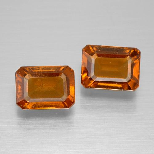 Cinnamon Orange Hessonite Garnet Gem - 1.5ct Octagon Facet (ID: 394867)