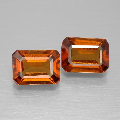1.4ct Octagon Facet Cinnamon Orange Hessonite Garnet Gem (ID: 394869)