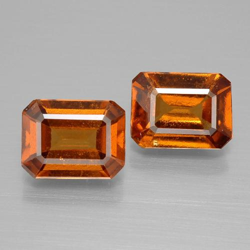 Cinnamon Orange Hessonite Garnet Gem - 1.5ct Octagon Facet (ID: 394871)