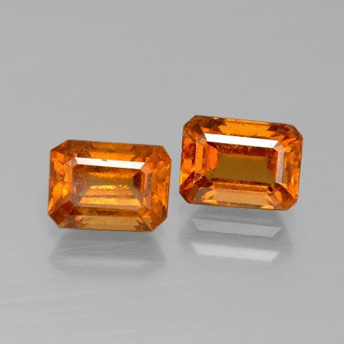 Yellowish Orange Granate Hesonita Gema - 1.3ct Forma octagonal (ID: 394873)