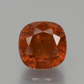 3.5ct Cushion-Cut Deep Orange Hessonite Garnet Gem (ID: 395114)