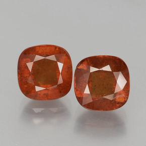 3.2ct Cushion-Cut Warm Orange Hessonite Garnet Gem (ID: 395125)