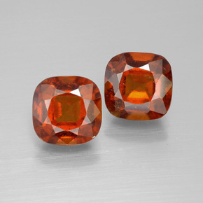 2.7ct Cushion-Cut Medium Orange Hessonite Garnet Gem (ID: 395201)