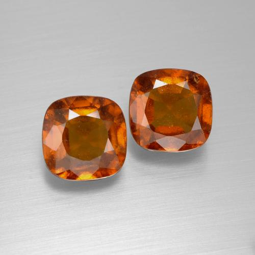 Cinnamon Orange Hessonite Garnet Gem - 2.5ct Cushion-Cut (ID: 395202)