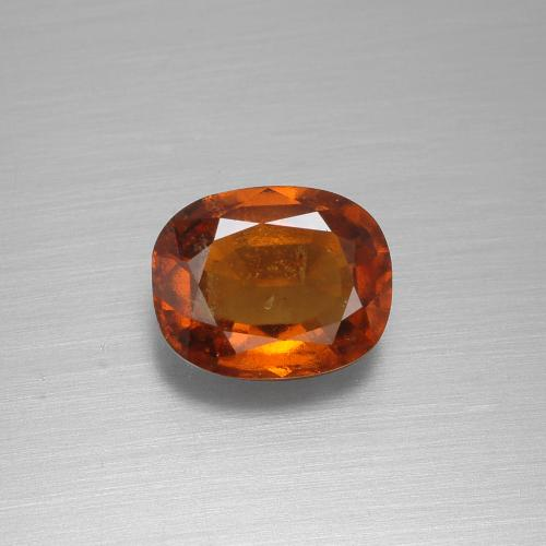 2ct Cushion-Cut Cinnamon Orange Hessonite Garnet Gem (ID: 395258)