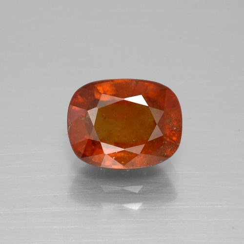 2.8ct Cushion-Cut Fire Orange Hessonite Garnet Gem (ID: 395268)